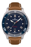 AUTO - STEEL CASE<br>BLUE DIAL-Anonimo Watches