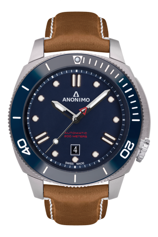 AUTO - STEEL CASE<br>BLUE DIAL
