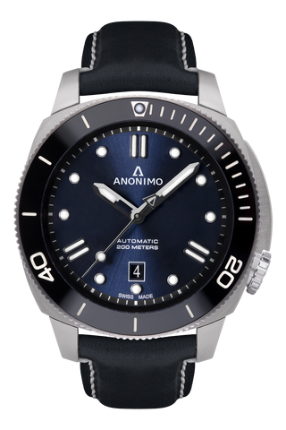 AUTO - STEEL CASE<br>NAVY BLUE DIAL