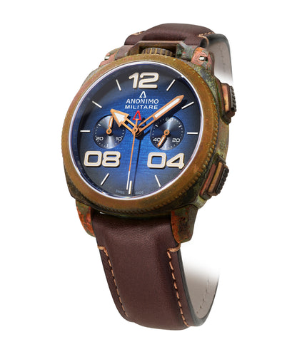 MILITARE Chrono Oxidized Bronze - Anonimo Watches