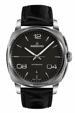 Steel Case & Anthracite Mat Opalin Dial-Anonimo Watches