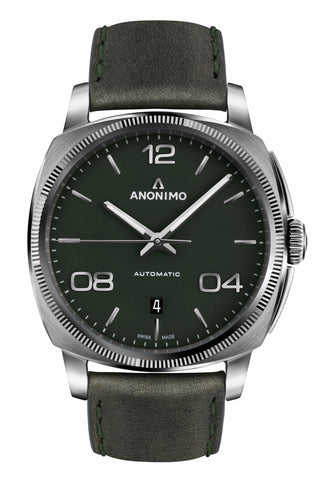 Steel Case & Mat Green Dial - Anonimo Watches