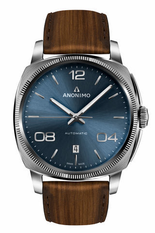 Steel Case & Galvanic Blue Sunray Dial - Anonimo Watches