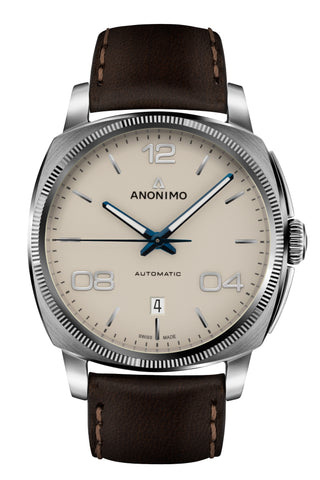 Steel Case & Galvanic Sunray Creme Dial - Anonimo Watches