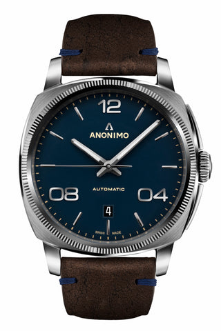 Steel Case & Galvanic Mat Blue Dial - Anonimo Watches