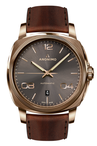 Bronze Case & Anthracite Sunray Dial-Anonimo Watches