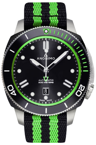 AUTO - NAUTILO NATO<br>GREEN-Anonimo Watches