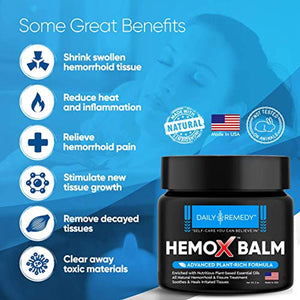 All Natural Hemorrhoid & Fissure Balm - Made in USA
