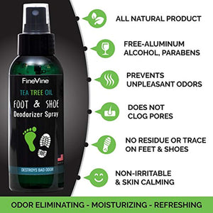 All Natural Shoe Deodorizer and Foot Deodorant Spray - Made in USA