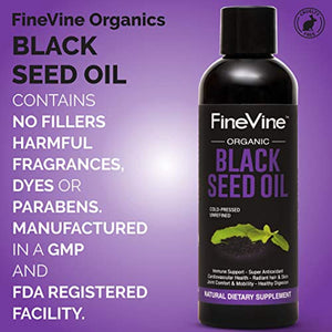 Black Seed Oil Organic Cold Pressed Helps Immune System