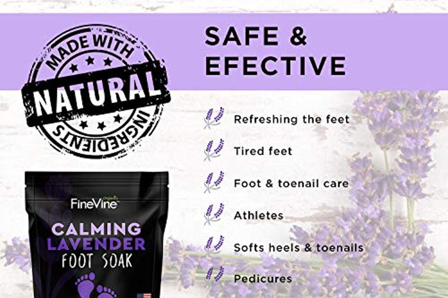 Calming Lavender Foot Soak with Epsom Salt, Made in USA