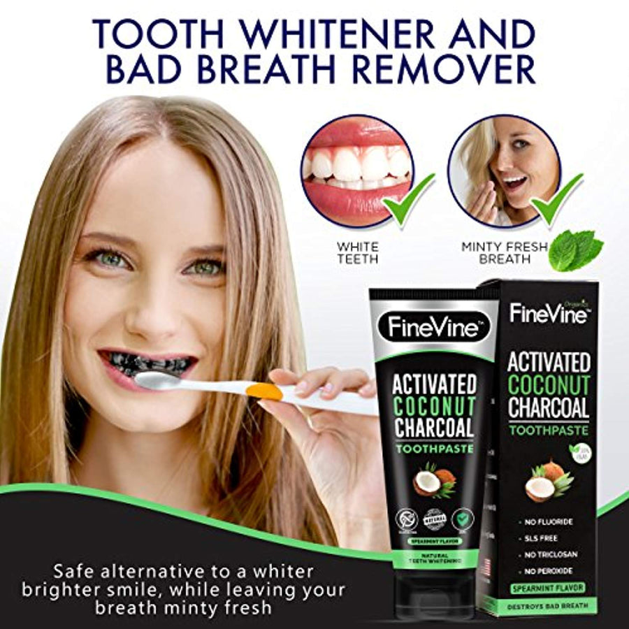 100% Natural Charcoal Teeth Whitening Toothpaste| Charcoal Toothpaste Made in USA