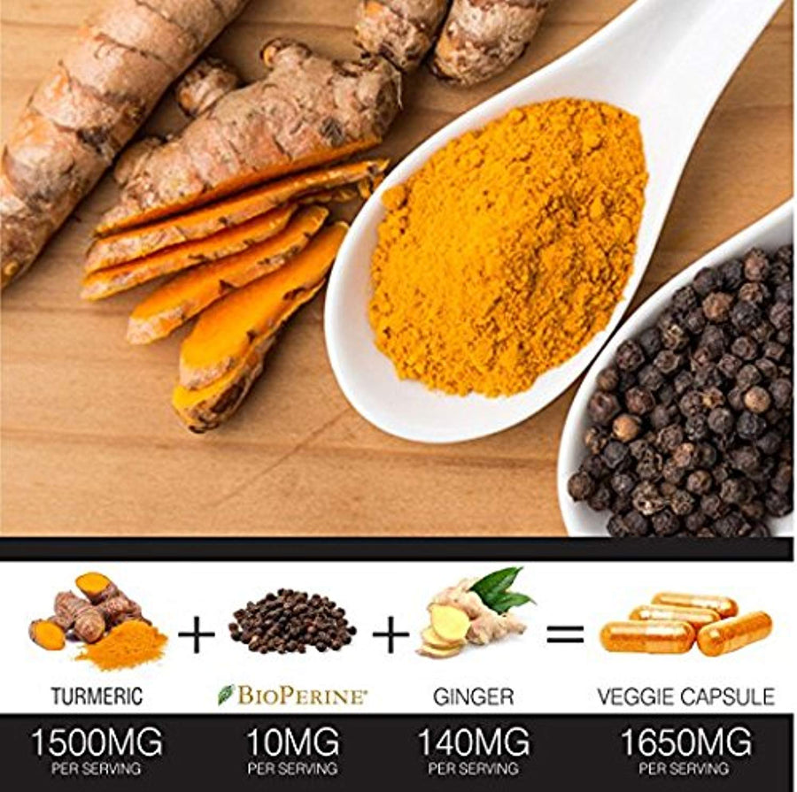 Turmeric Curcumin with BioPerine Black Pepper and Ginger
