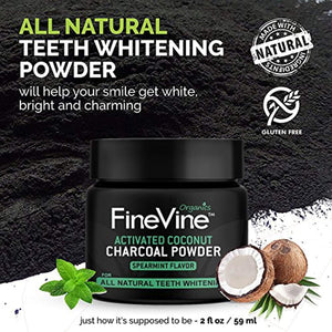 Charcoal Teeth Whitening Powder - Made in USA