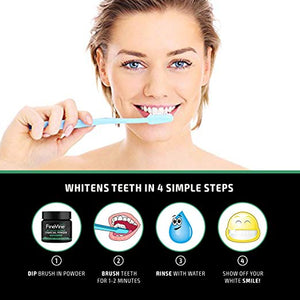 Activated Teeth Whitening Charcoal - Spearmint flavor