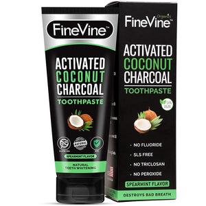 100% Natural Charcoal Teeth Whitening Toothpaste