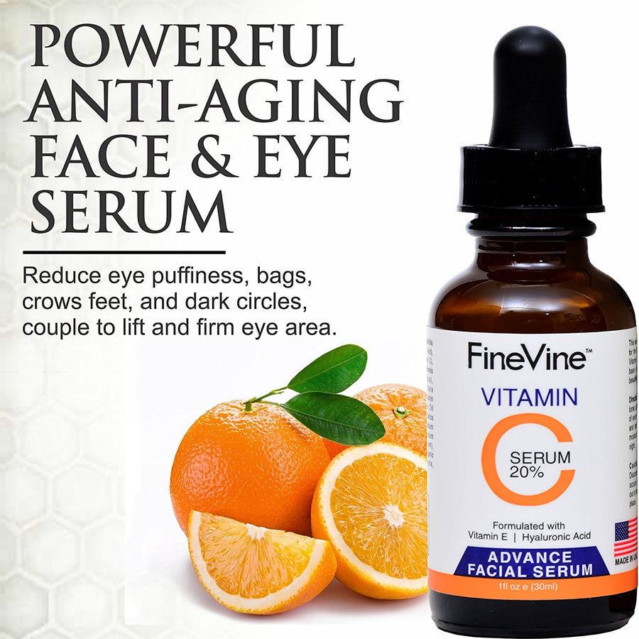 Vitamin C Serum for Face with Hyaluronic Acid