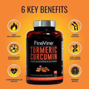 Turmeric Curcumin with BioPerine Black Pepper and Ginger  10.00% Off Auto renew