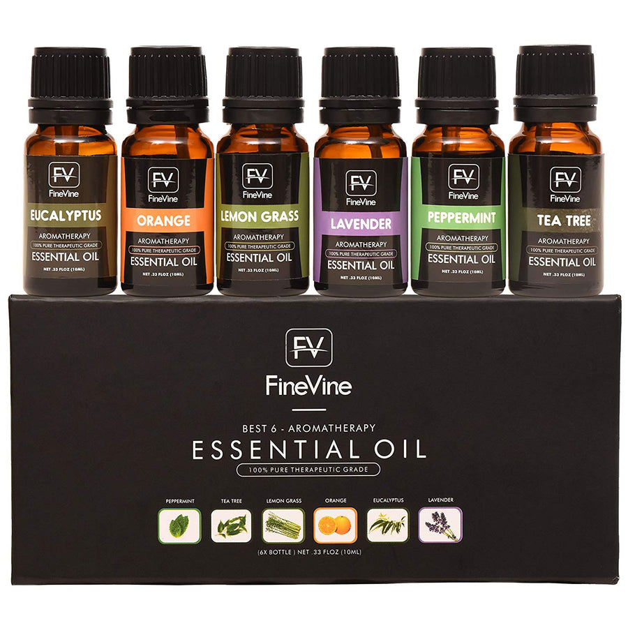 Aromatherapy Top 6 Essential Oils Gift Set