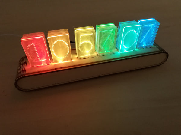 NIXT CLOCK - RGB Full Color Acrylic Nixie Clock Kit