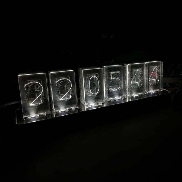 NIXT CLOCK - Acrylic Nixie Style Clock - Led Acrylic Clock - USB Powered