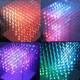 AuraCube 8x8x8 3D RGB LED Cube DIY Kit Full Color