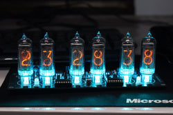 No Tubes - DIY IN-14 Nixie Clock Through-hole Soldering Version of the NiciClock IN-14