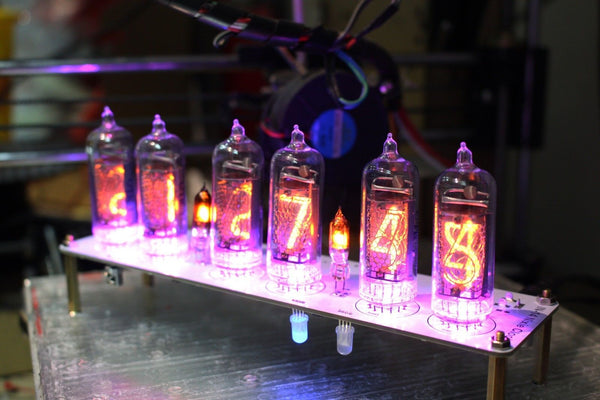 No Tubes -NIXT CLOCK - IN-14 NIXIE TUBE CLOCK WITH REMOTE AND ALARM Kit