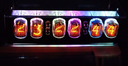 IN-12 NIXIE TUBE CLOCK WITH REMOTE AND ALARM 100% Soldered