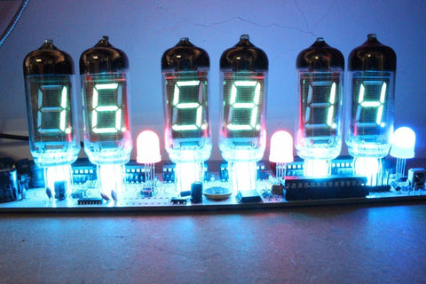 IV-11 VFD Tube Clock DIY Soldering Kit Remote Alarm Clock With 6 Tubes