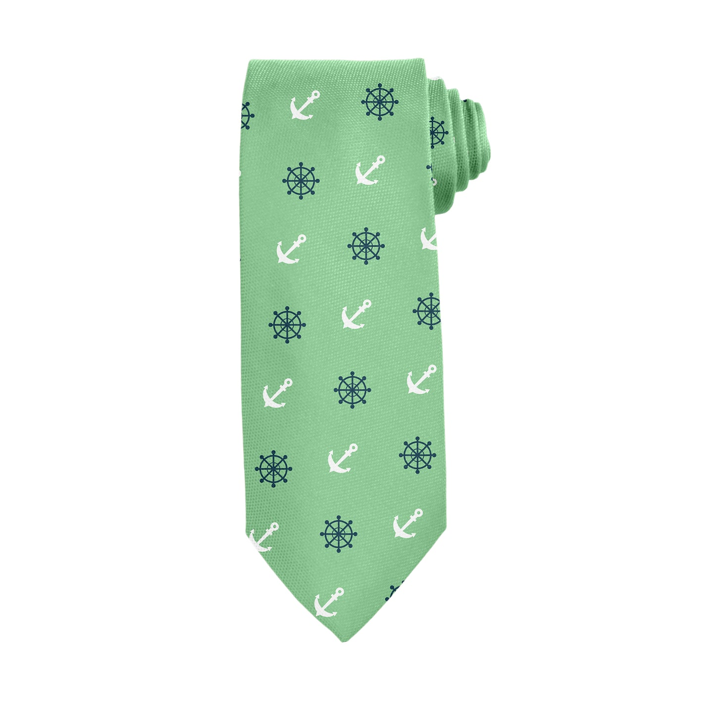 Anchors & Ships Wheels Green Tie