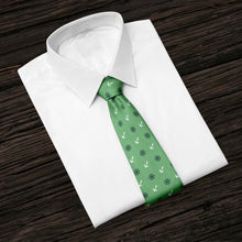 Load image into Gallery viewer, Anchors & Ships Wheels Green Tie