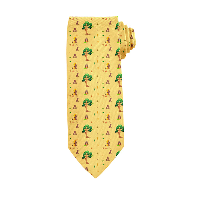 Bear Necessities Brown Tie