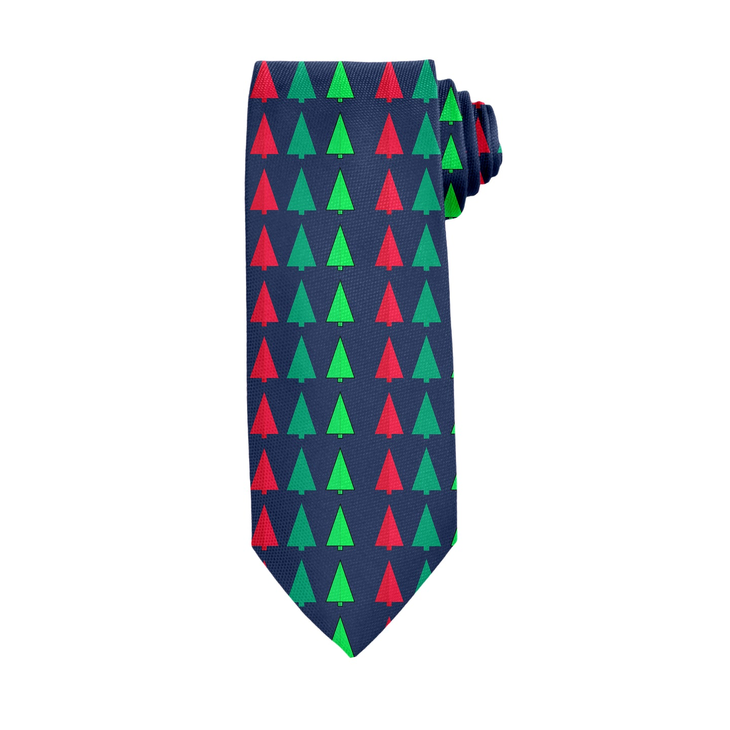 Christmas Tree Abstract Hunter Green Tie