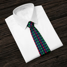 Load image into Gallery viewer, Christmas Tree Abstract Hunter Green Tie