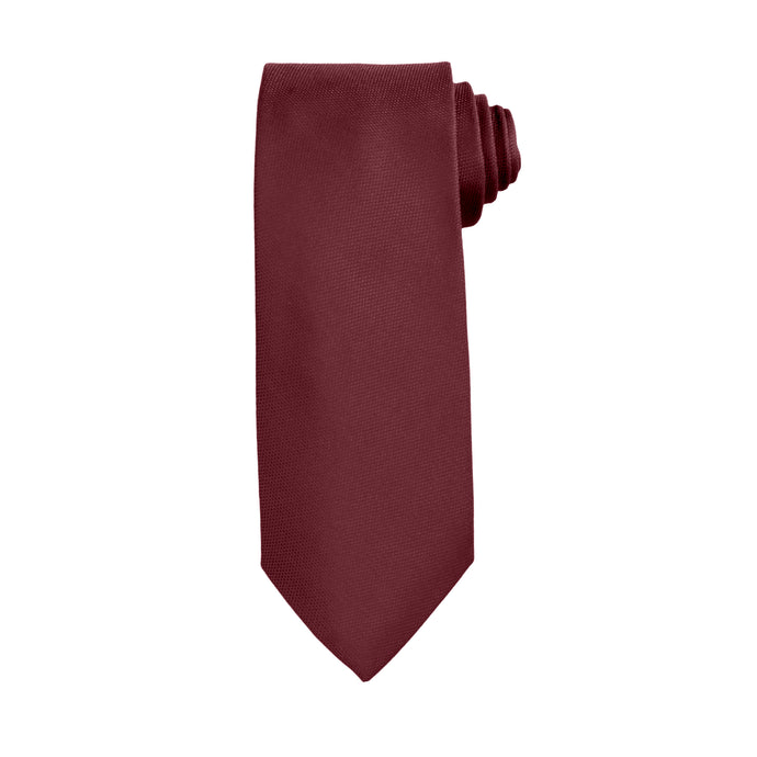 Burgundy Business and Solid Tie