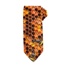 Load image into Gallery viewer, Honeycomb Red Tie