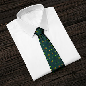 Into The Woods Green Tie