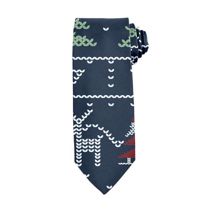New Year Santa Tie