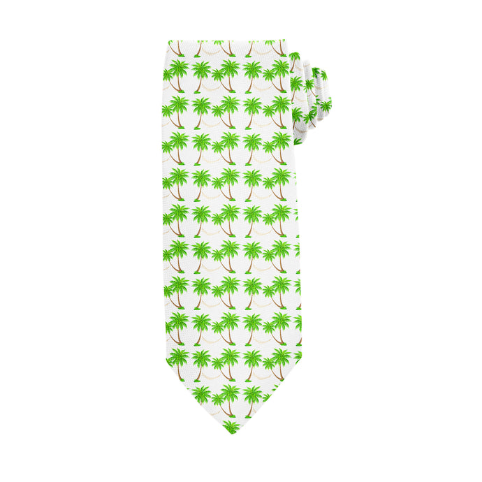Palm Tree Siesta Aqua Tie