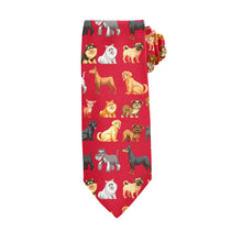 Load image into Gallery viewer, Small Dogs Go To Heaven Red Tie