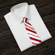 Load image into Gallery viewer, Red Striped Tie