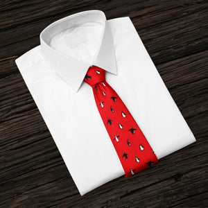Christmas Penguins Red Tie