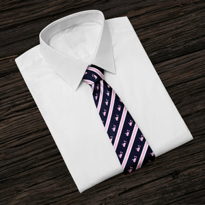 Striped Whales Tie
