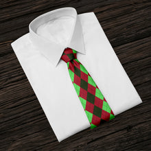Load image into Gallery viewer, Christmas Argyle Tie