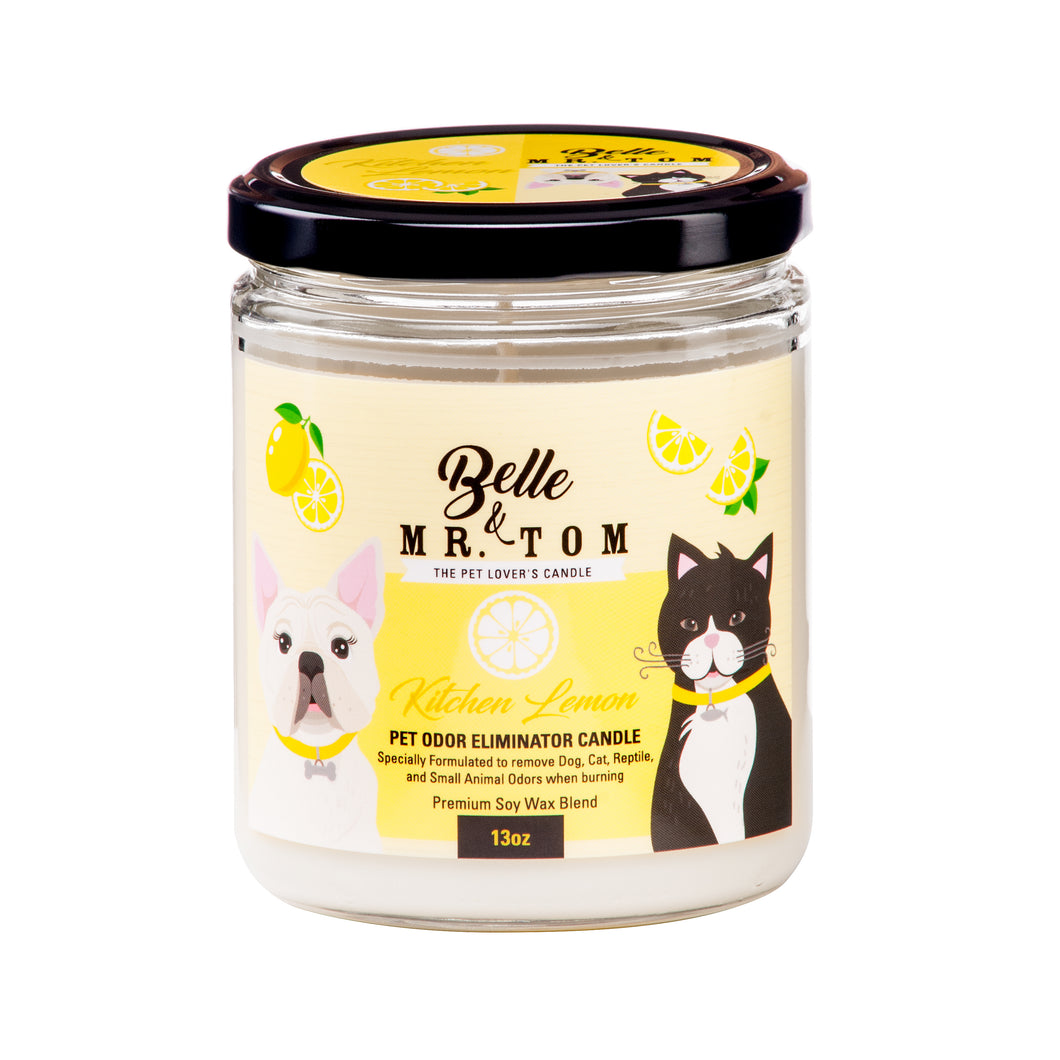 Kitchen Lemon: Pet Odor Eliminator Candle (13oz)