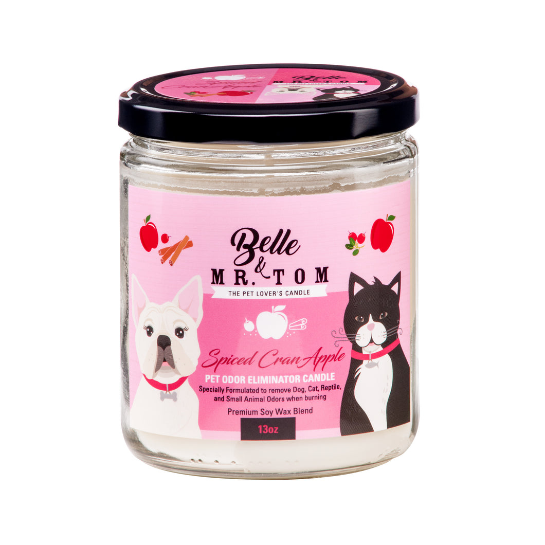 Spiced CranApple: Pet Odor Eliminator Candle (13oz)