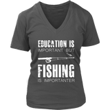Fishing is Importner - Women's V-Neck