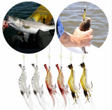 9pack - Natural Lifelike Shrimp Soft Lures