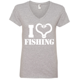 I Love Fishing - Ladies' V-Neck T-Shirt